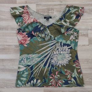 CHAPS Tropical Theme Top ✨ new $45
